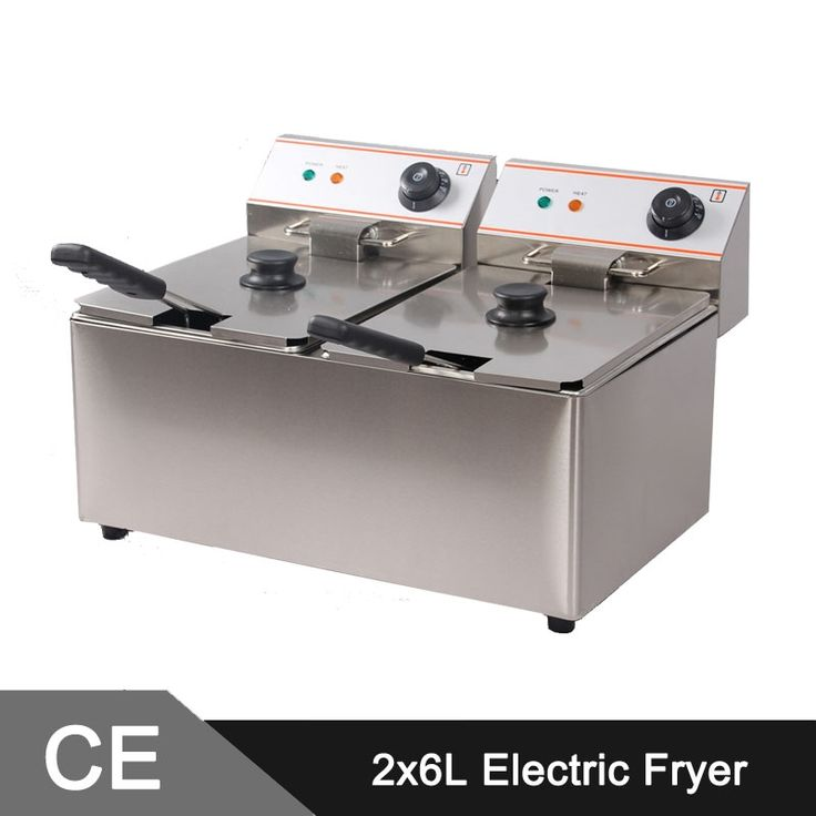 (399.00$)  Watch now - http://aitf4.worlditems.win/all/product.php?id=1983401509 - 12L Electric Commercial Deep Fryer Double Tank Double Basket Stainless Steel Bench Top