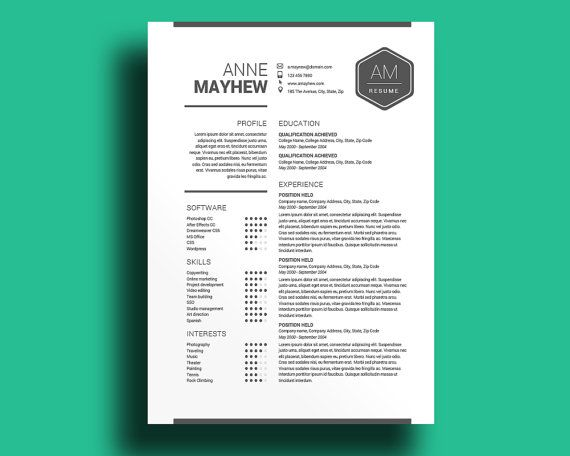 12 best cv images on Pinterest - resume template for mac free