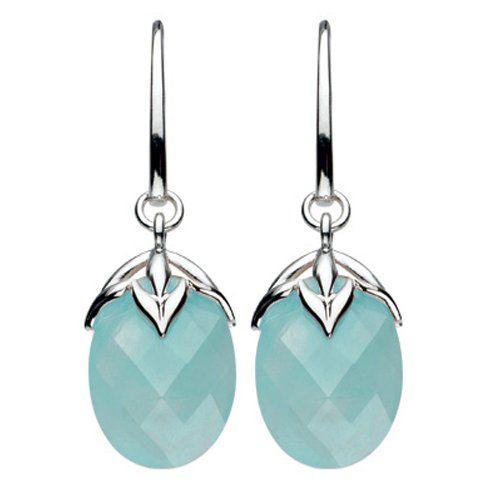 Amazon.com: Kit Heath Faceted Blue Jade & Sterling Silver Palm Earrings: Kit Heath Jewelry: Jewelry