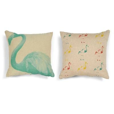 Image for Flamingo Print Cushion from Kmart