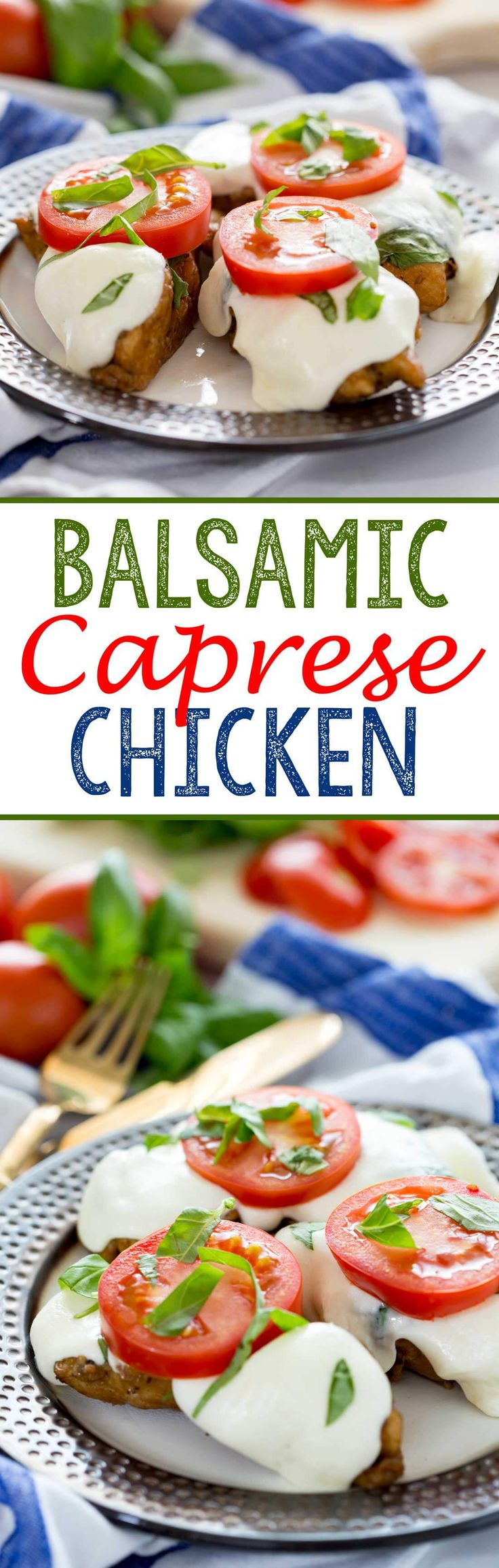Balsamic Caprese Chicken (Grill or Stove Top) - Eazy Peazy Mealz