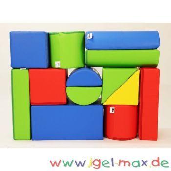 xxl gro bausteine 13 teile softbausteine kindergartenm bel igel und kaufen. Black Bedroom Furniture Sets. Home Design Ideas