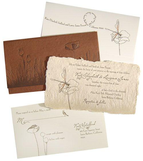 invitation(letterpress+ handmade paper)