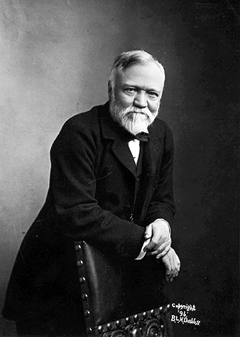 [Portrait of Andrew Carnegie in 1896 by Pittsburg photographer B. L. H. Dabbs] The Robber Barrons, such as Carnegie (pictured), Rockefeller, J.P. Morgan, and Cornelius Vanderbilt, were owners of monopolies. Although these Barrons influxed business and industrialization in America and gave some of their wealth to philanthropic causes, they also allowed their workers to work long hours in poor conditions for less than satisfactory wages.