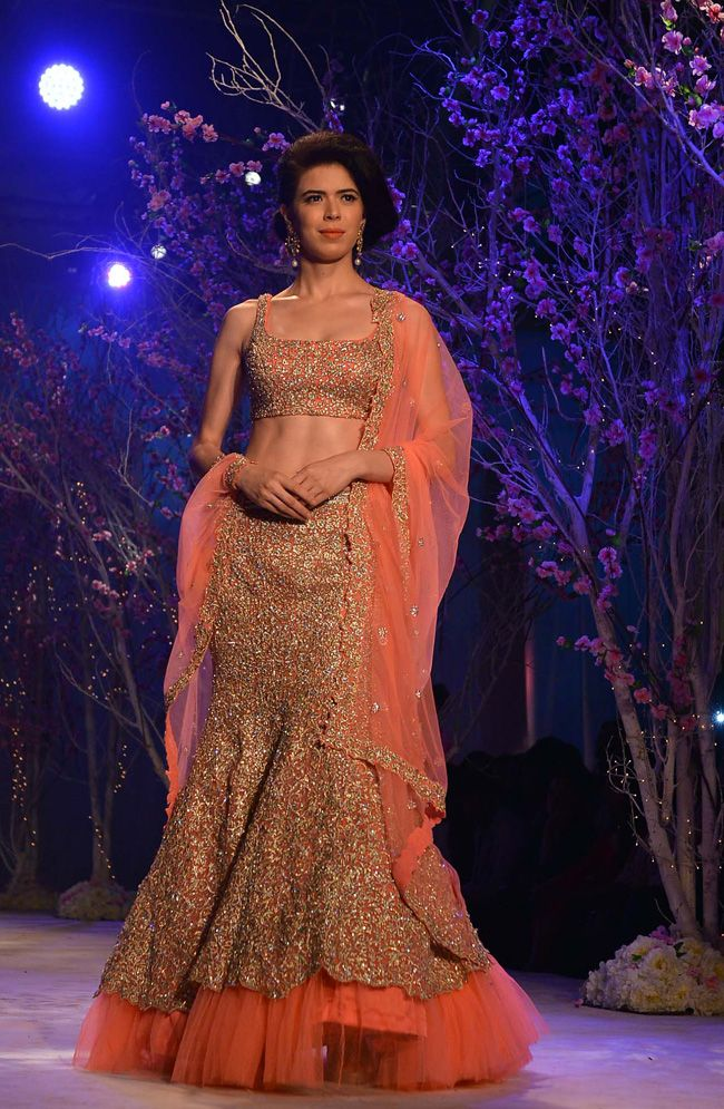Sucheta Sharma posing for Jyotsna Tiwari at the BMW India Bridal Week (IBFW) 2014. #Style #IBFW2014 #Fashion #Beauty