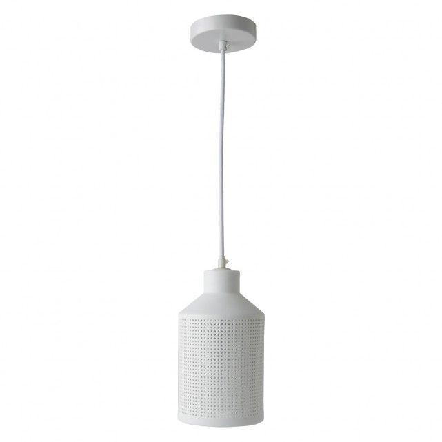 BELLE Etched white ceramic ceiling light