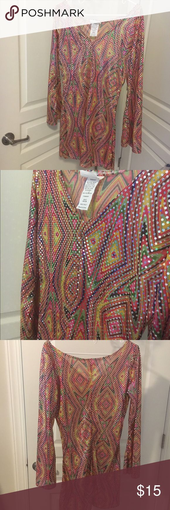 Sparkly hippie dress! Sparkly hippie dress/Halloween costume! Could be worn as a dress for everyday use it for a costume! Bought from another posher and loved it! I accept offers and offer discounts for bundles :) Dresses Long Sleeve