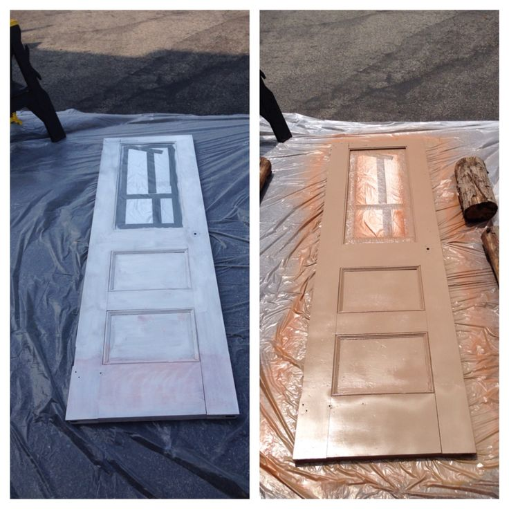 During.....DIY old Bell Telephone door