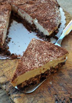Cheesecake al tiramisu e nutella con riso soffiato torta fredda vickyart arte in cucina