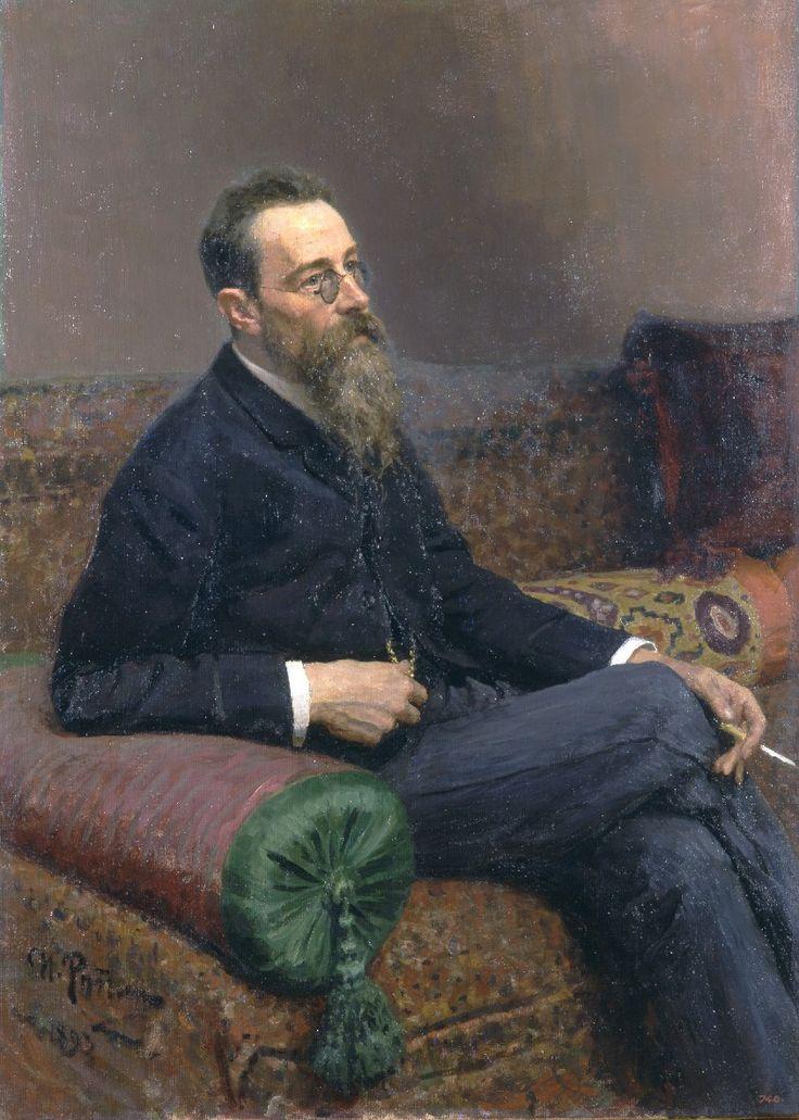 Ilya Repin, 'Portrait of composer Nikolai Rimsky-Korsakov', 1893. Oil on canvas. 125 × 89.5cm. The State Russian Museum, St. Petersburg.