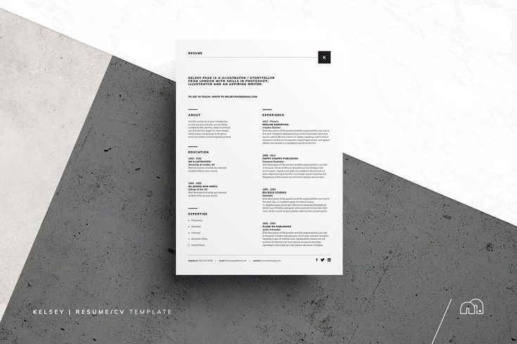 Resume/CV - Kelsey - Resumes - Resume/CV - Kelsey - Resumes - Clean Resume/CV is very Clean, Creative, Modern, High Class & Professional Design Template. Save your money & cost your time, impress your Boss with this, Wow! One Page Resume/CV & One Page Cover Letter. #cvtemplate #resume #job