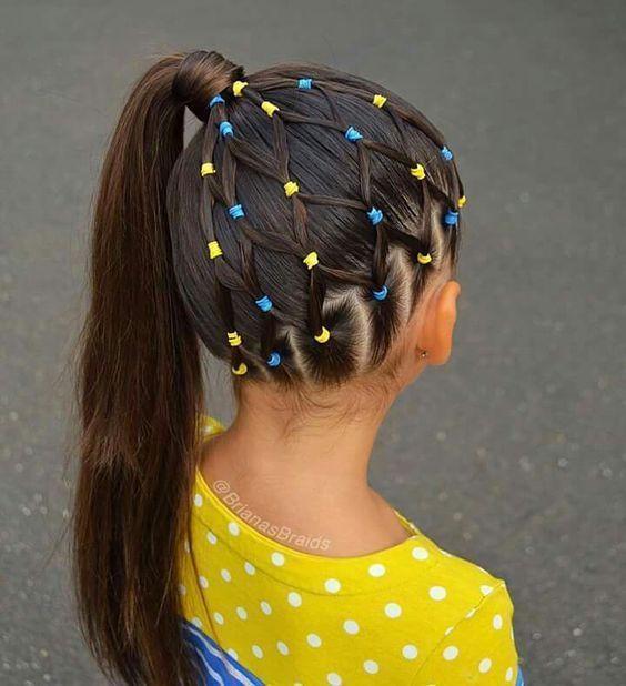 #SchuleFrisuren #Kinderhaar #Einfache Frisuren schnelle Frisuren für Schulk