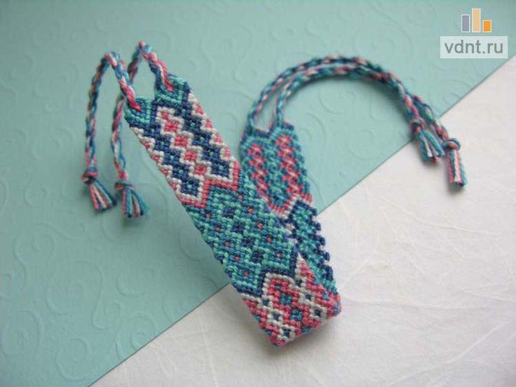 Мастер-класс по плетению фенечки из ниток мулине по схеме.   ВДНТ - лучшие работы мастеров рукоделия