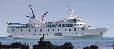 M/V La Pinta, Galapagos luxury cruise ship.