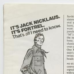 Jack Nicklaus Fortrel Ad