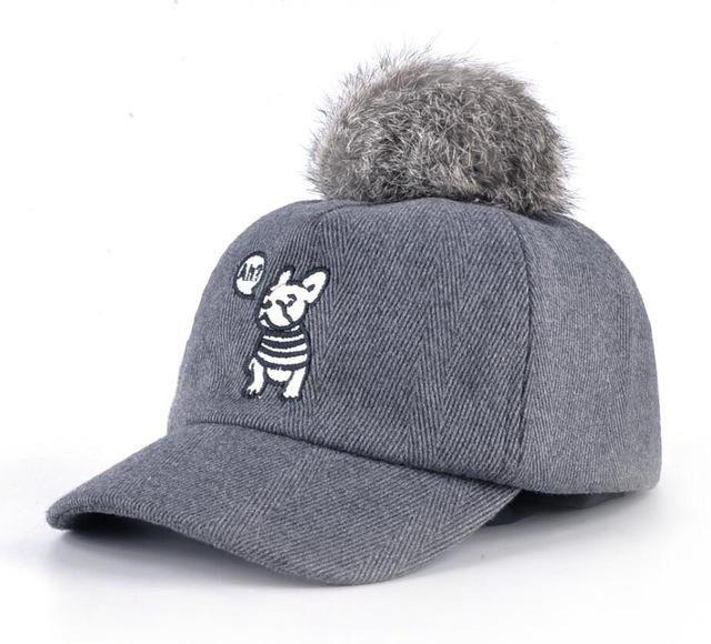 89cc5337faeaf Pom Pom Frenchie Baseball Cap