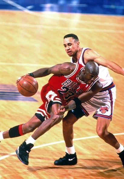 Michael Jordan Chicago Bulls New York Knicks John Starks