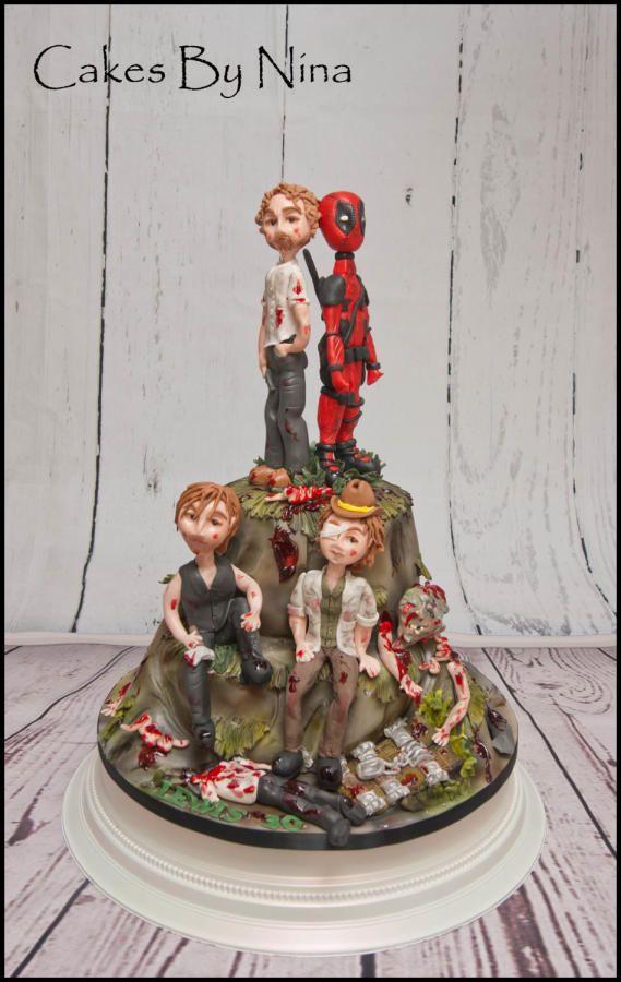 Walking Dead Deadpool cake by Cakes by Nina Camberley