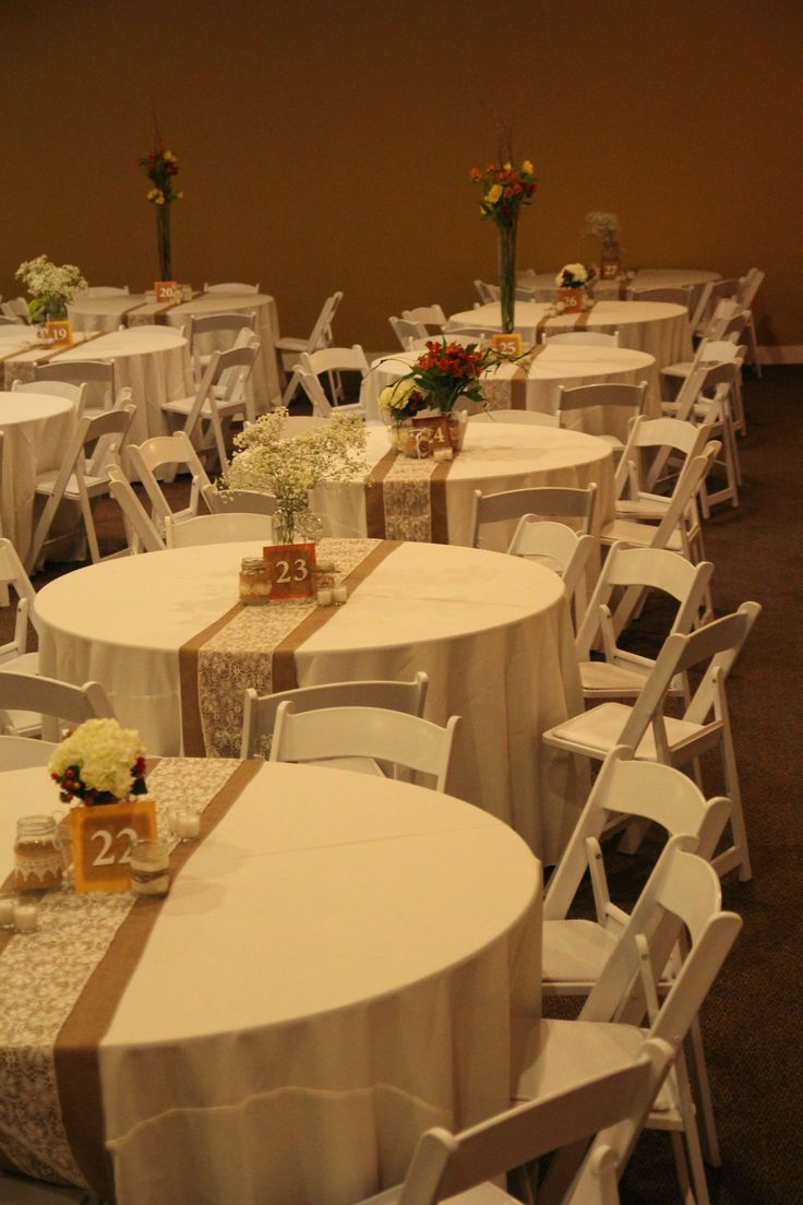 fall wedding burlap and lace table runner simple decoration for a great rustic chic