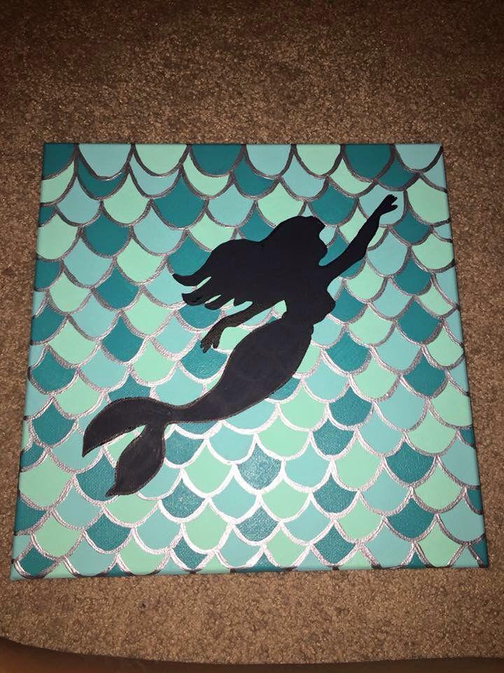 Ariel little mermaid canvas