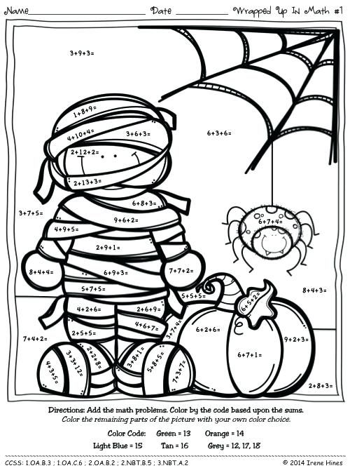 halloween color by number pages halloween color by number  halloween color by number pages halloween color by number multiplication  worksheets halloween math coloring sheets free coloring pages of second  grade free