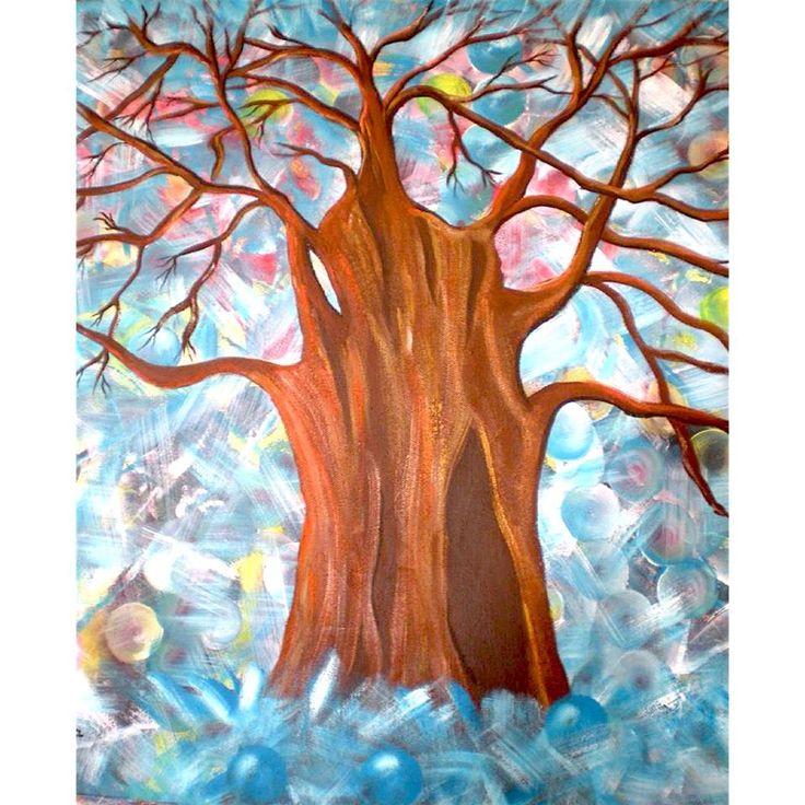 "acrilico su tela cm 60x60 ""Baobab"" Dana Mincione"
