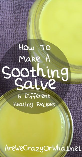 Step by step directions on how to make 6 different soothing salve recipes. #beselfreliant