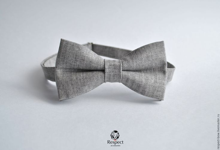 Купить Бабочка галстук москва, серый лен, бабочка жениха в стиле рустик