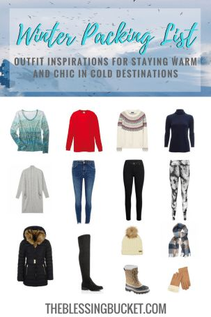 Female winter packing list - Stay warm and chic on cold destination trips #womensfashion #traveltips #packing #travelblog
