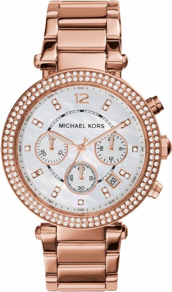 Michael Kors Uhr Parker Damen Rosegold Grosse One Size In 2020 Mit Bildern Michael Kors Chronograph Michael Kors Uhr Michael Kors Rose