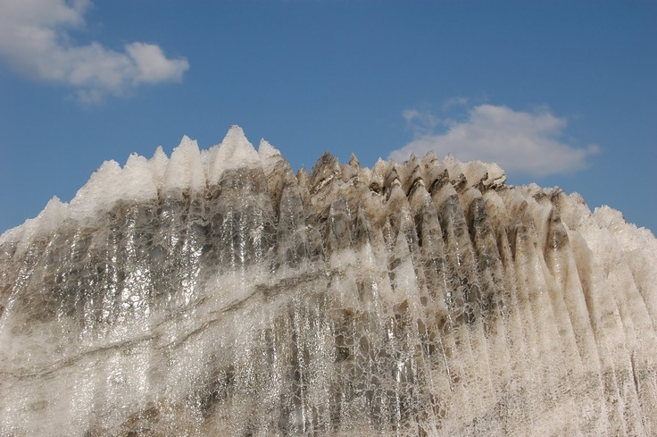 Visit The Salt Mountain. It is not a salty mountain but made of actual salt :)  ~ Slănic Prahova.