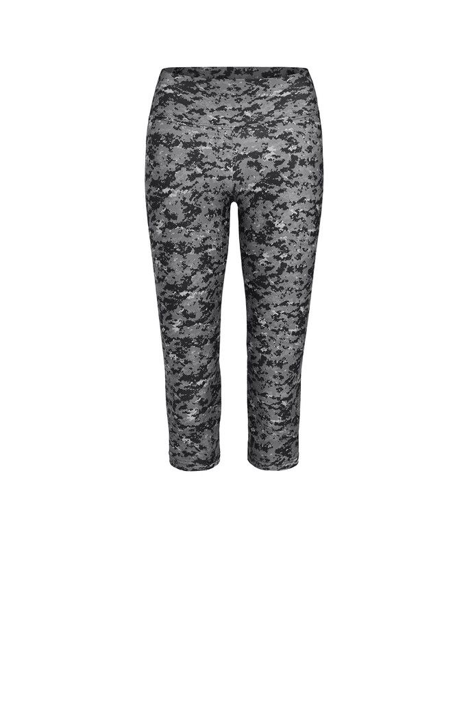 Grey Camo Printed Legging - Crop – Dharma Bums Yoga and Activewear
