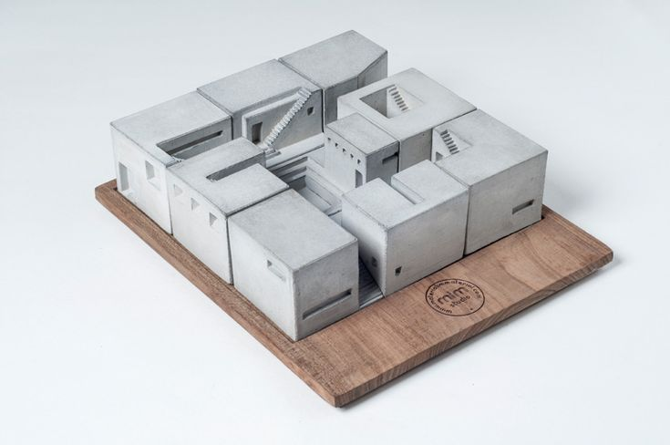 Miniature Modern Concrete Buildings By Material Immaterial studio - see more on blog
