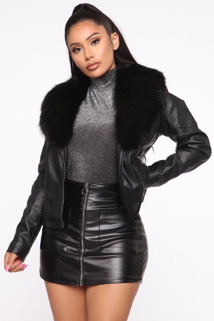 Elsa Faux Leather Jacket Black In 2020 Fashion Black Faux Leather Jacket Leather Jacket