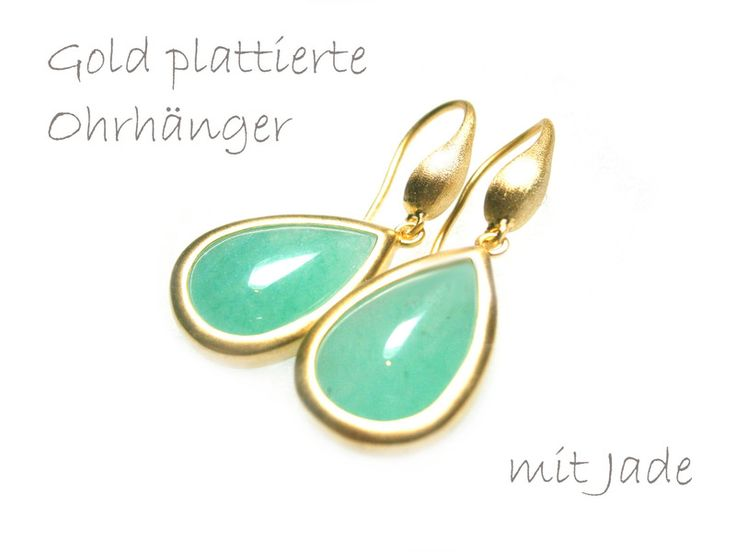 Ohrringe Jade grün von DeineSchmuckFreundin - Schmuck und Accessoires auf DaWanda.com