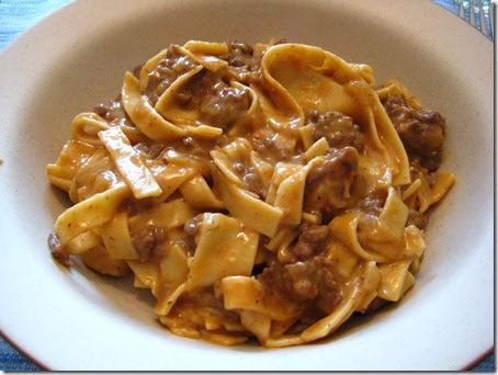 "This is another recipe to put in the ""Husband Friendly Food"" file. I've never actually had hamburger helper but I image that this is what..."