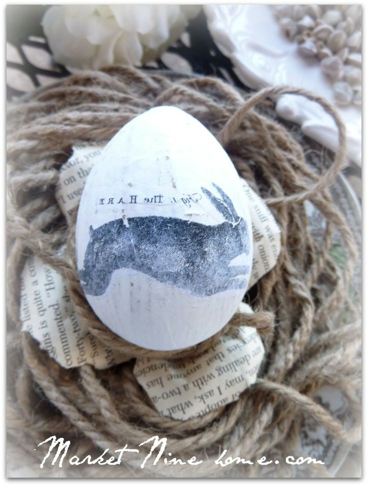 Easy image transfers on paper mache eggs if i start now i for Finishing paper mache