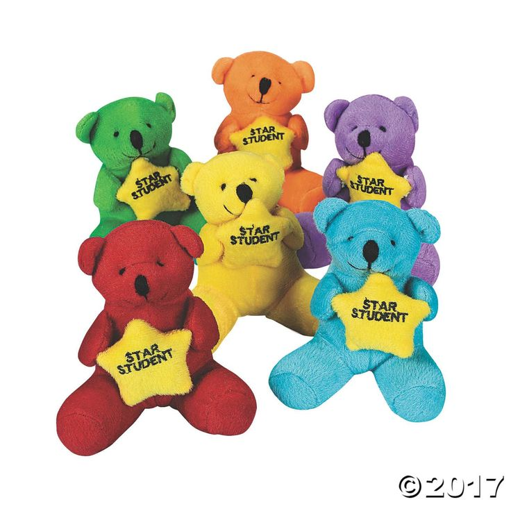 These encouraging bears make a great gift for the star students in your life. A cute addition to your classroom supplies, each Plush Star Student Bear is ...