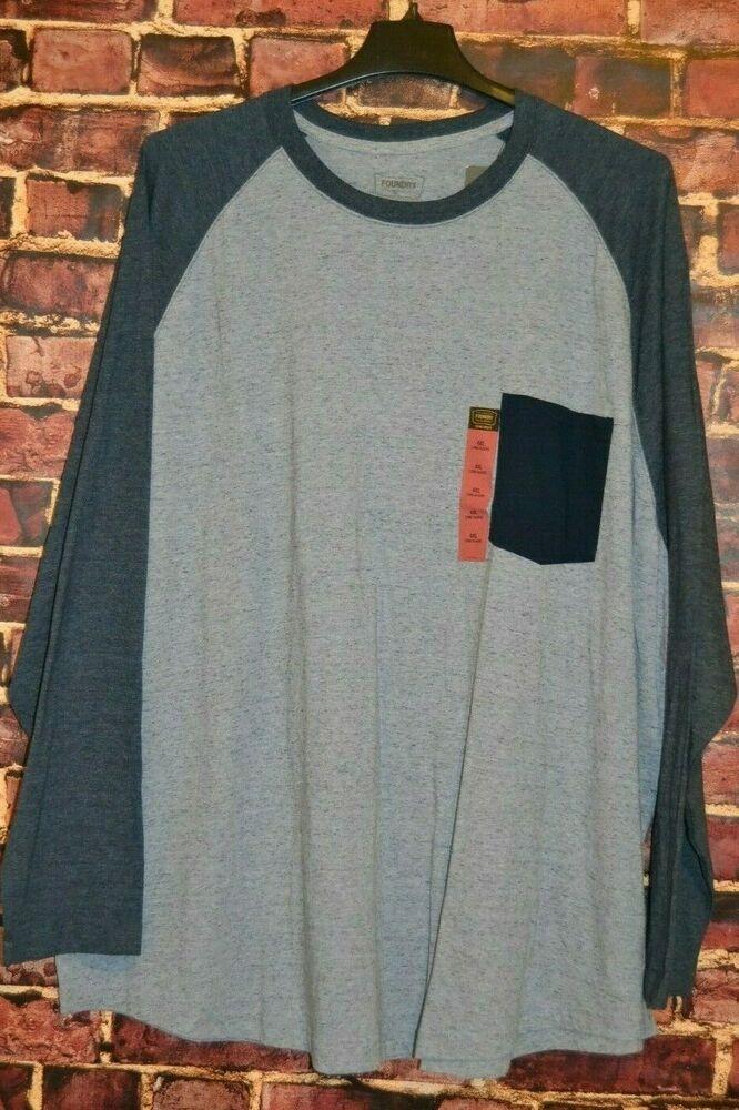 Men/'s Foundry Big /& Tall Hooded Long Sleeved Cotton Shirt