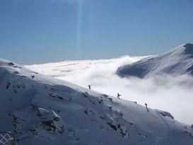 Backcountry snowboarding Aspiring Guides - New Zealand climbing, mountaineering, trekking, ice climbing