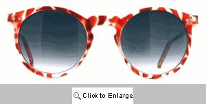 Marley Small Round Camptown Sunglasses - 368 Red
