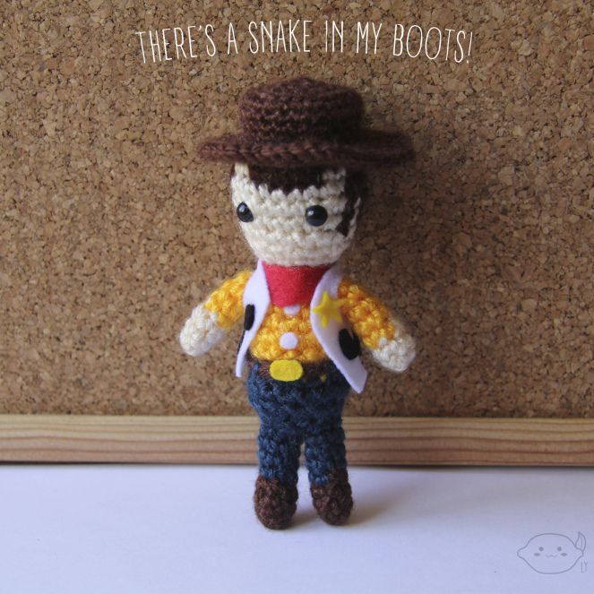 Woody from Toy Story - Crochet Amigurumi - #lemonyarncreations #crochet #amigurumi #disney #pixar #toystory #woody
