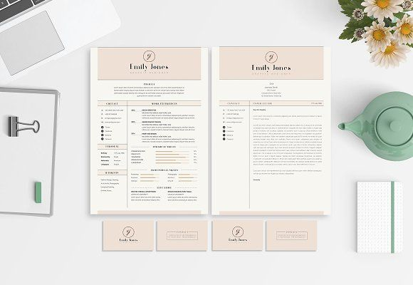 CV-Resume/Portfolio/Card Template *C by Showy68 Template on @creativemarket