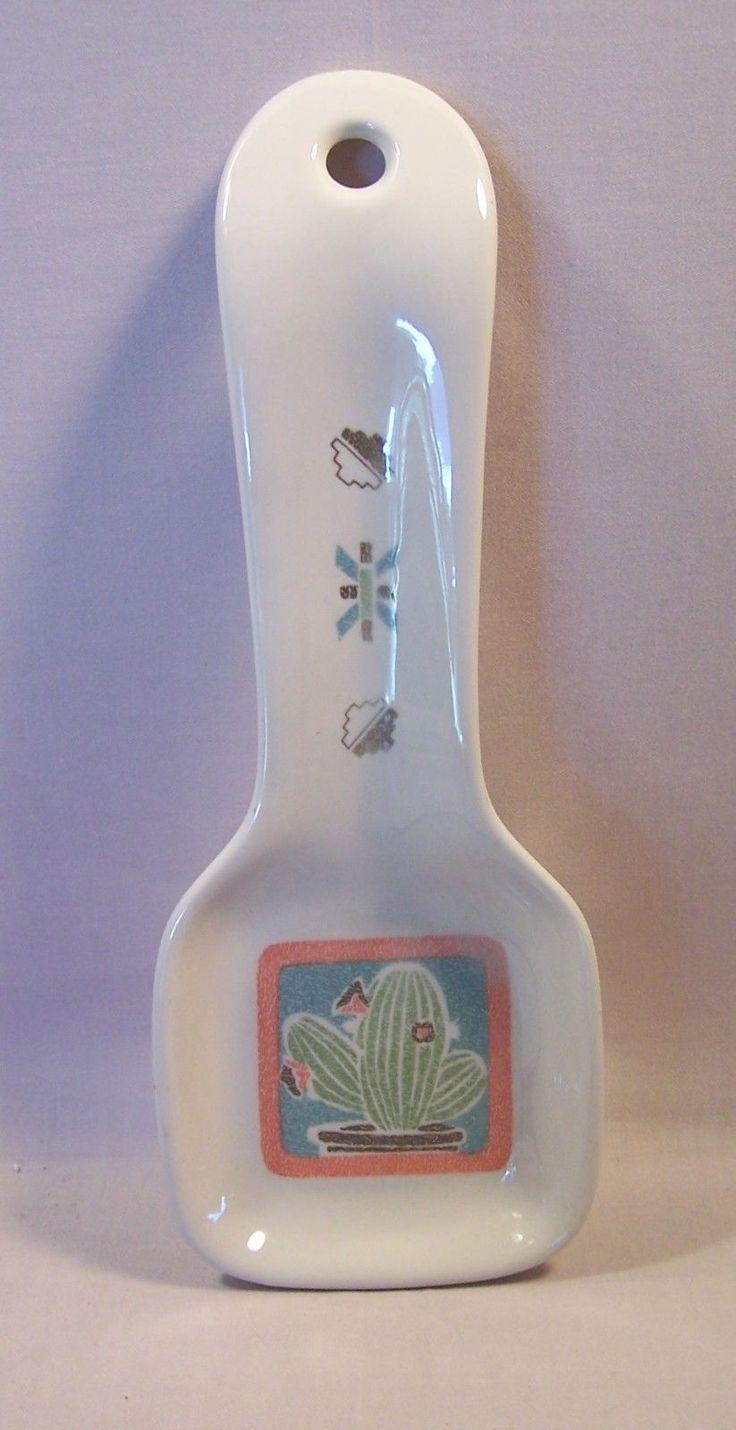 Otagiri Cactus Spoon Rest Southwestern Elizabeth King Brownd | eBay