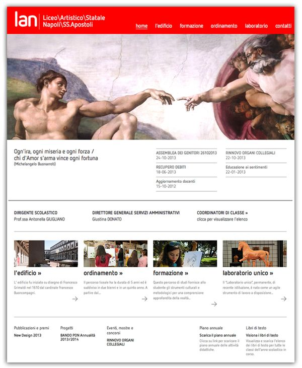 LAN Liceo Artistico Statale S.S. Apostoli Napoli by Giovanna Grauso, via Behance