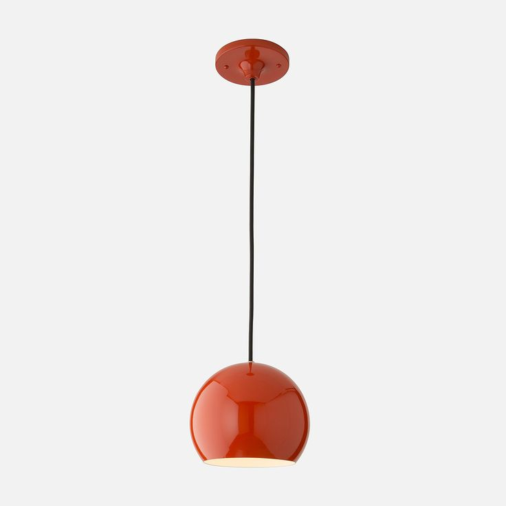 """Isaac 1 Light Pendant   Schoolhouse Electric & Supply Co. Persimmon or black $145 8"""" dia."""