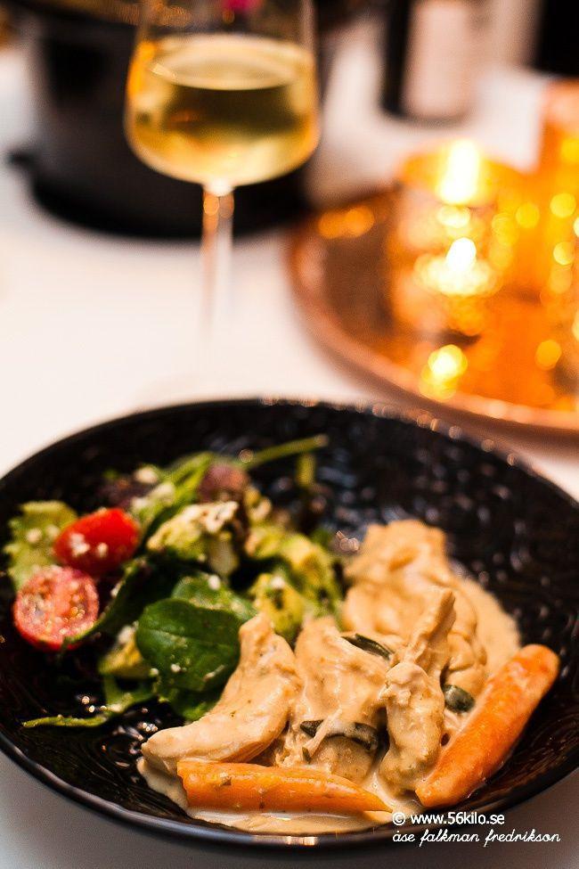 Crock Pot kyckling med senap och dragonsås - 56kilo - LCHF Recept, inspiration, och matglädje!
