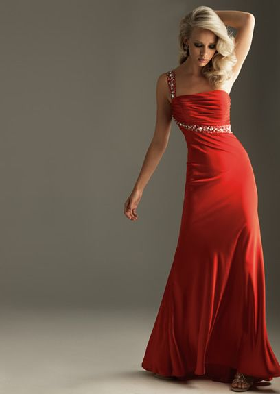 Fascinating One Shoulder Ruffle Beads Working Floor Length Evening Dress