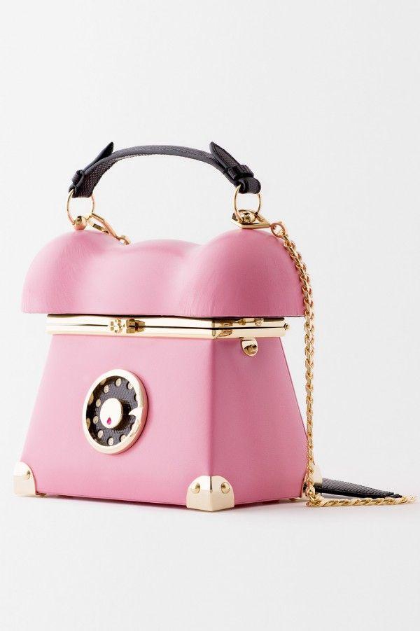 Ines Figaredo Fall Winter 2017 34 Pink Leather Telephone Handbag