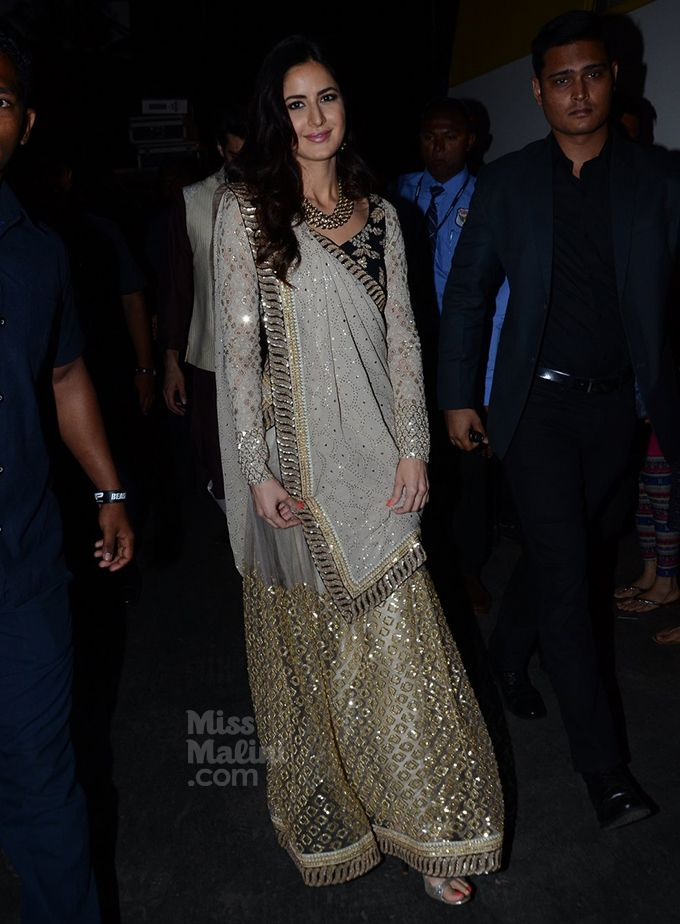 Feb-March, 2018) @missmalini 'Katrina Kaif's Desi Style Is Worth Every Stare.' ..Even if her desi attire is bejewelled with bling, her makeup, hairstyles and accessories are minimalistic. We love the balance and absolutely love this approach 'cause she exactly knows what looks best on her. #katrinakaif #indianfashion #lehenga #bollywoodfashion via @sunjayjk